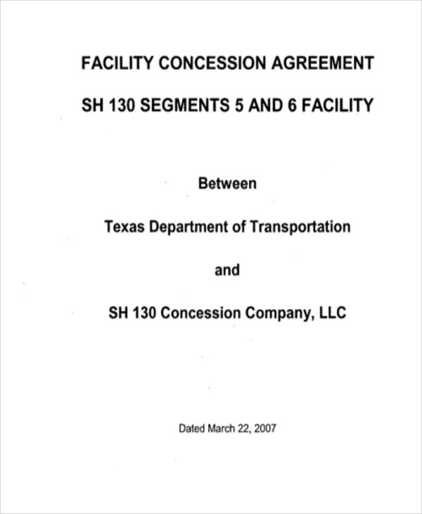 facility concession agreement