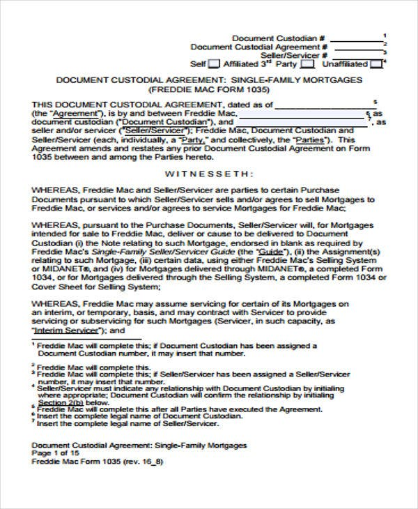 Family Mortgage  Mortgage Agreement Form