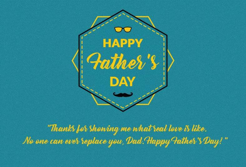 Father's Day Thank-You Note