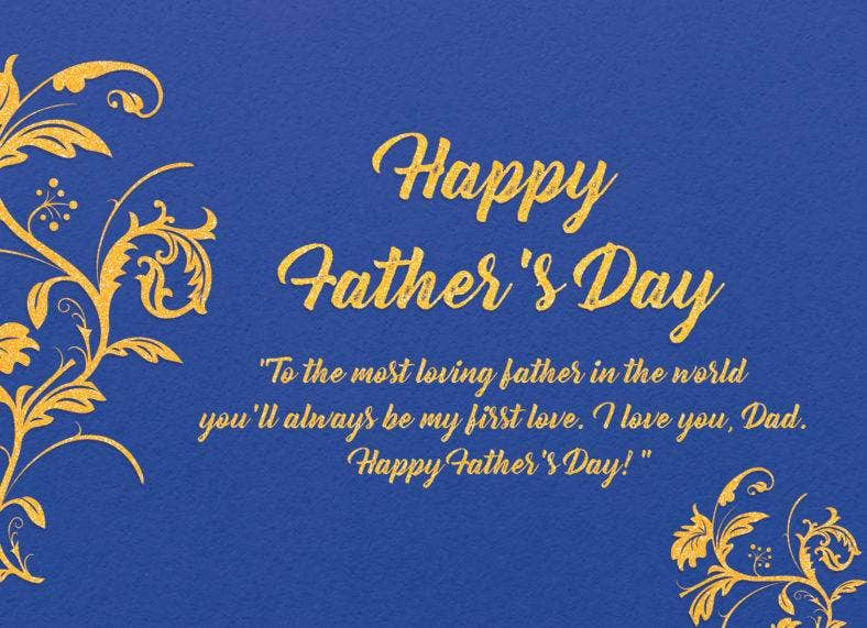 Colorful Fathers Day Thank You Note
