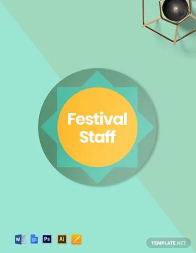 festival badge round template