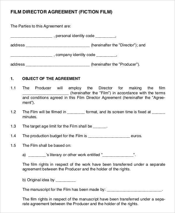 Film Director Agreement