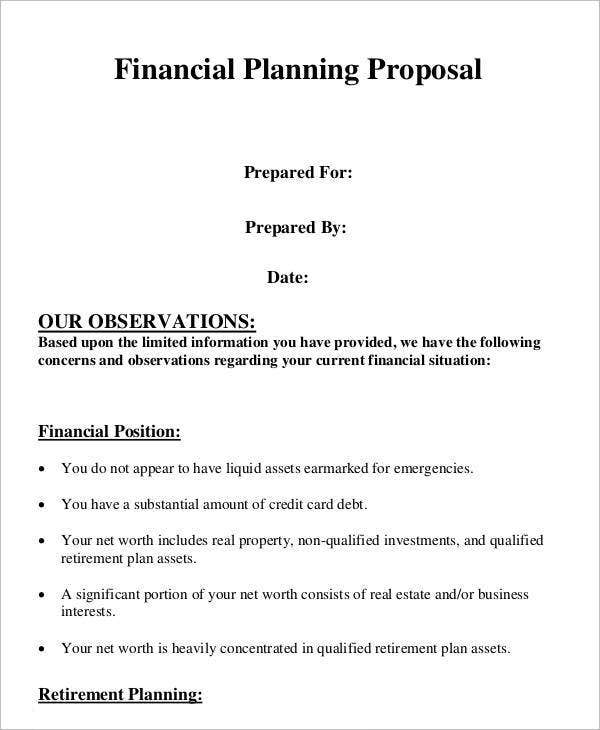 Plan Proposal Template  Proposal Plan Template