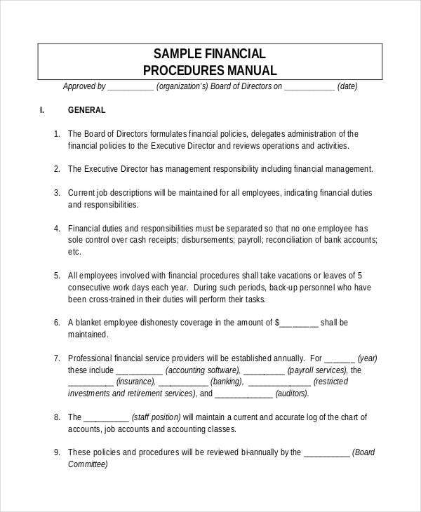 finance sop template - 7 procedure note templates free sample example format
