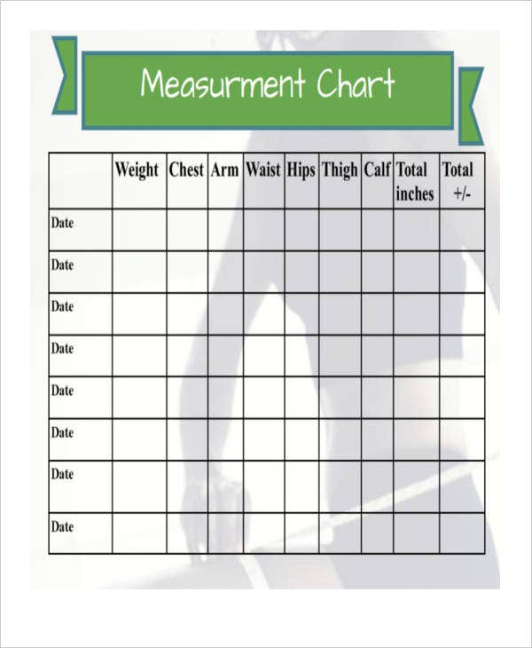 measurement chart templates