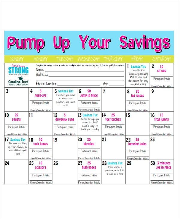 fitness schedule1