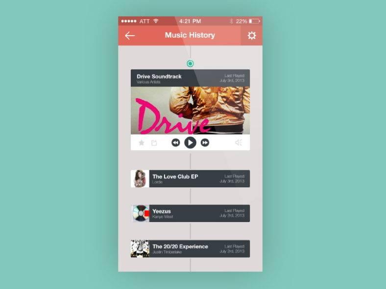 flat music app design 788x591