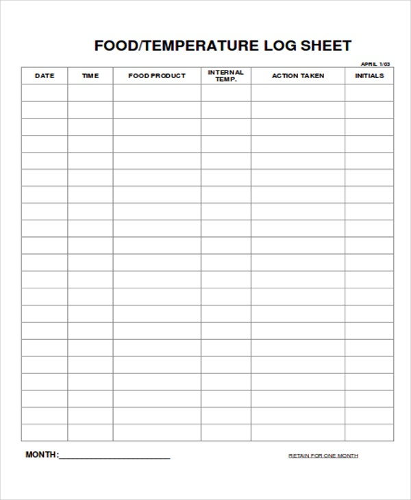 Food Log Template Excel  BesikEightyCo