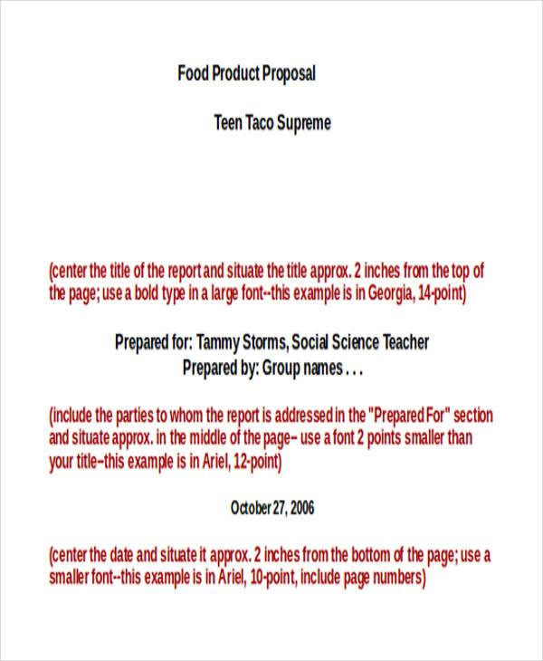 food proposal3