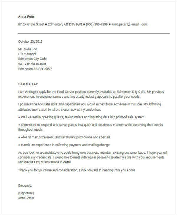 banquet server resume cover letter This free banquet server cover letter sample should serve as your guide the next time you are applying for jobs.