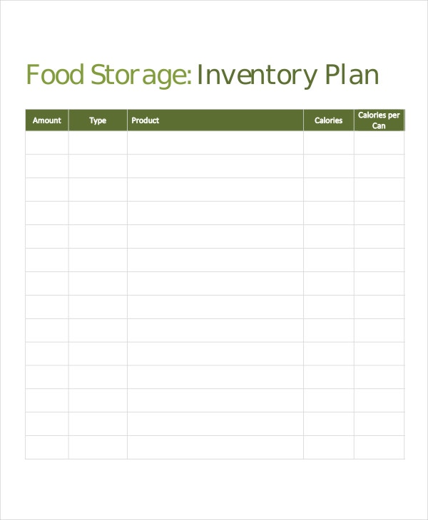 food storage inventory template1