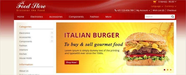 food-store-opencart-template