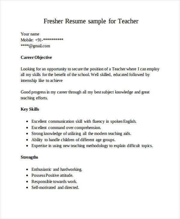 12 Formal Curriculum Vitae Free Sample Example Format Download