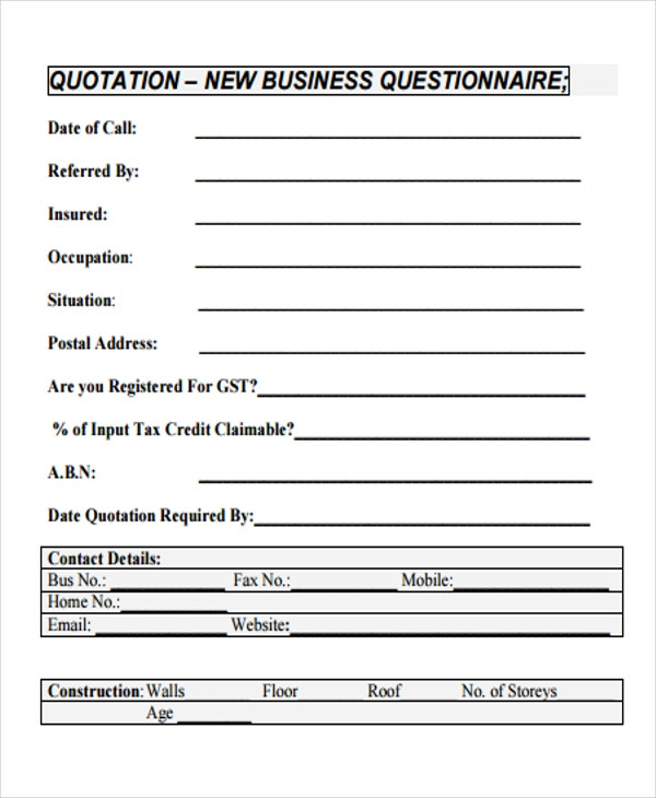 Business Quotations   Free Sample Example Format Download  Free
