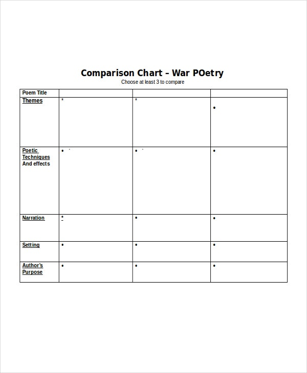 24  chart templates in word