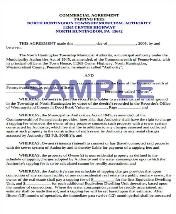 17 commercial agreement templates free sample example format free commercial agreement platinumwayz