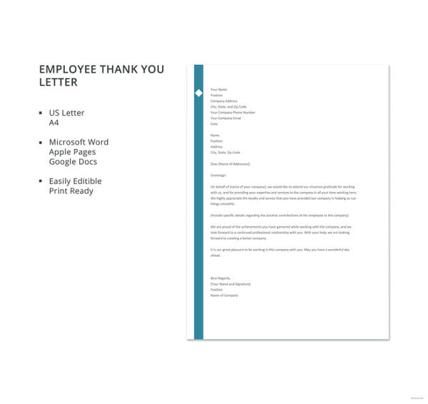 free-employee-thank-you-letter-template