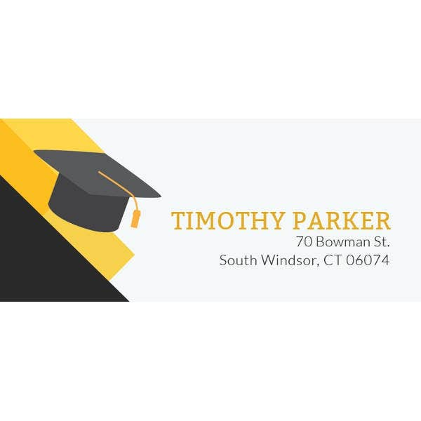 free graduation address label template