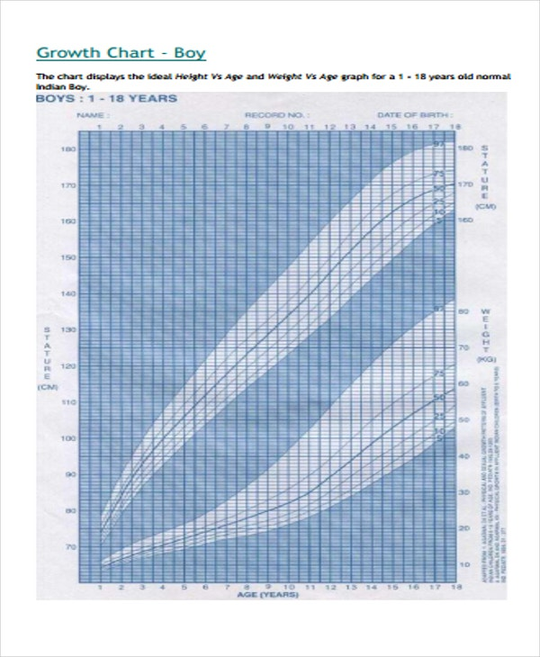 Cdc Growth Chart Template  Sample Cdc Growth Chart  Documents In