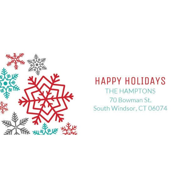 free holiday address label template