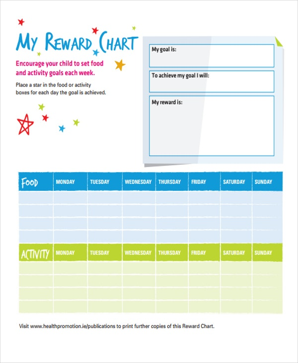 Free Printable Reward Chart Template