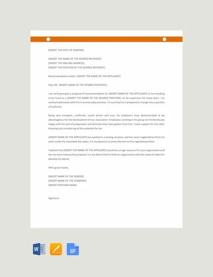 Letter Of Recommendation For Promotion from images.template.net
