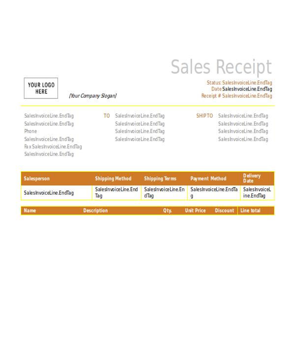 free sales receipt