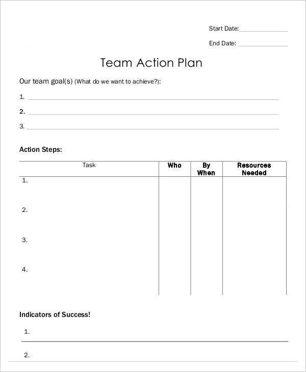 Free Team Action Plan