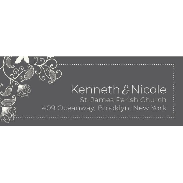 free wedding address label template