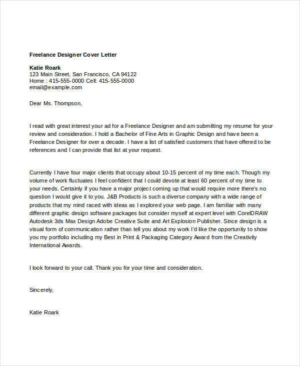 Designer Cover Letter - 11+ Free Word, PDF Format Download | Free ...