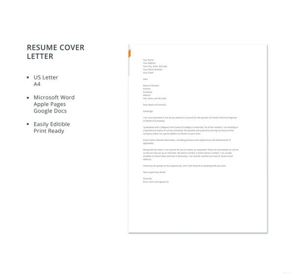 Engineering Cover Letters - 11+ Free Word, PDF Format Download ...