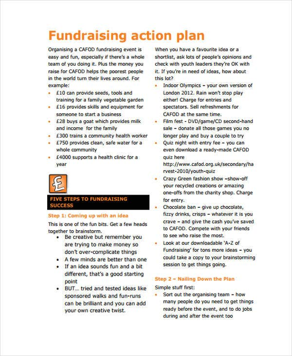 fundraising action