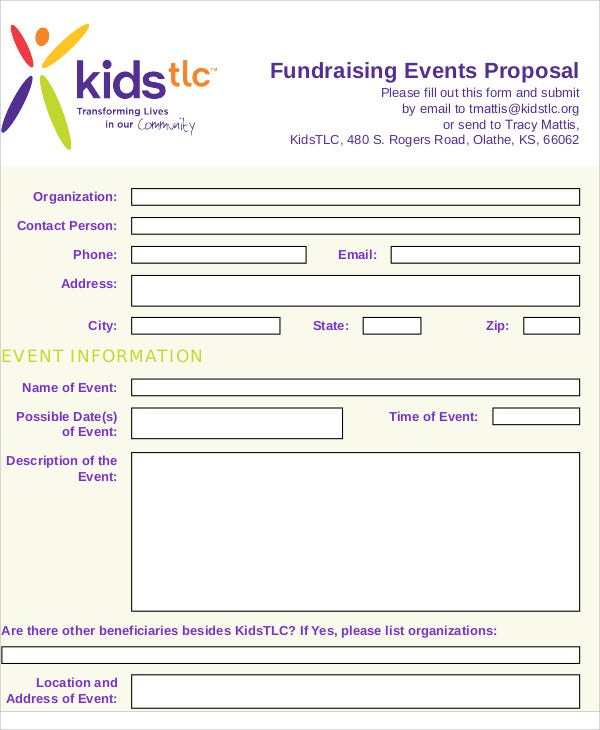 fundraising event proposal sample