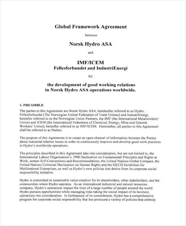 global agreement