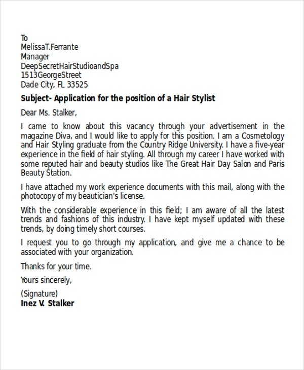 hairdressing apprenticeship cover letter Dayjob one page version cover letter for makeup artist science research paper table of contents cover letter for hairdressing apprenticeship.