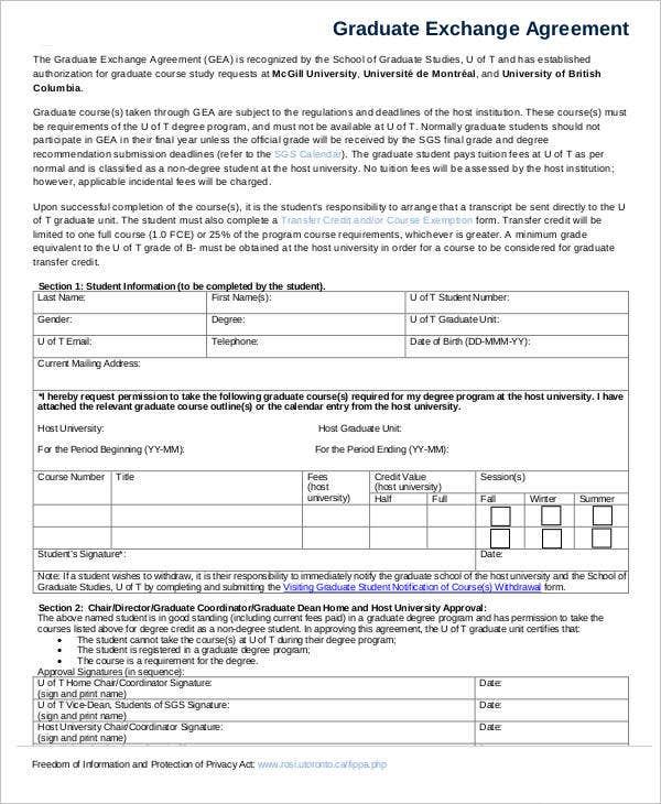 Exchange Agreement Home Exchange Agreement Form Sample Exchange