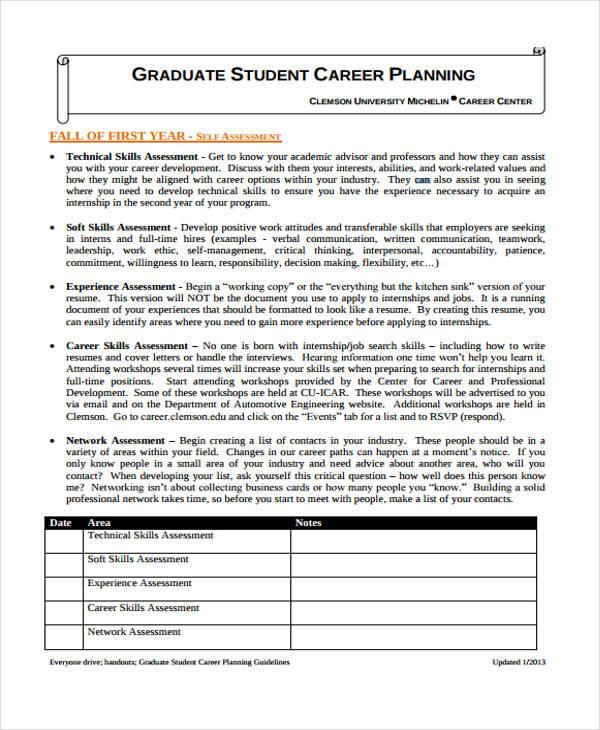 graduate student plan