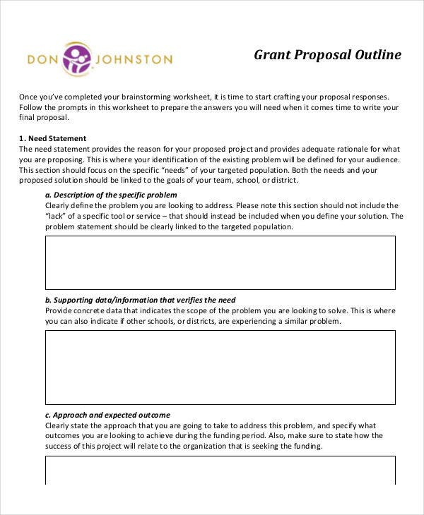 grant proposal outline