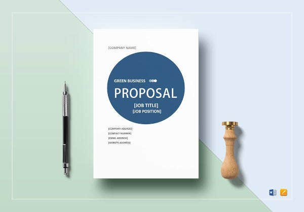 green business proposal to print