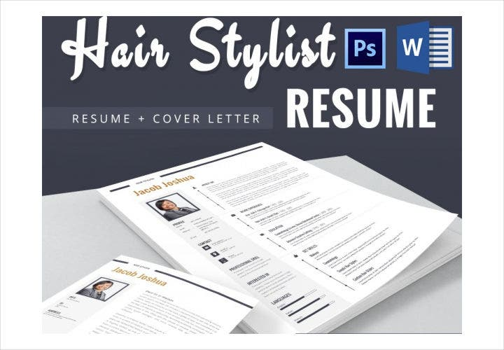 Hair Stylist Resume / CV Template