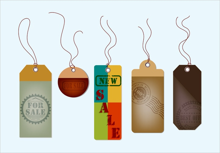 hang sale tags