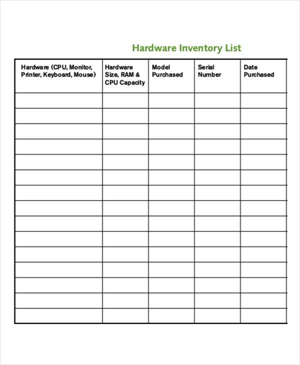 It Inventory Template | It Inventory Templates 9 Free Word Pdf Format Download Free