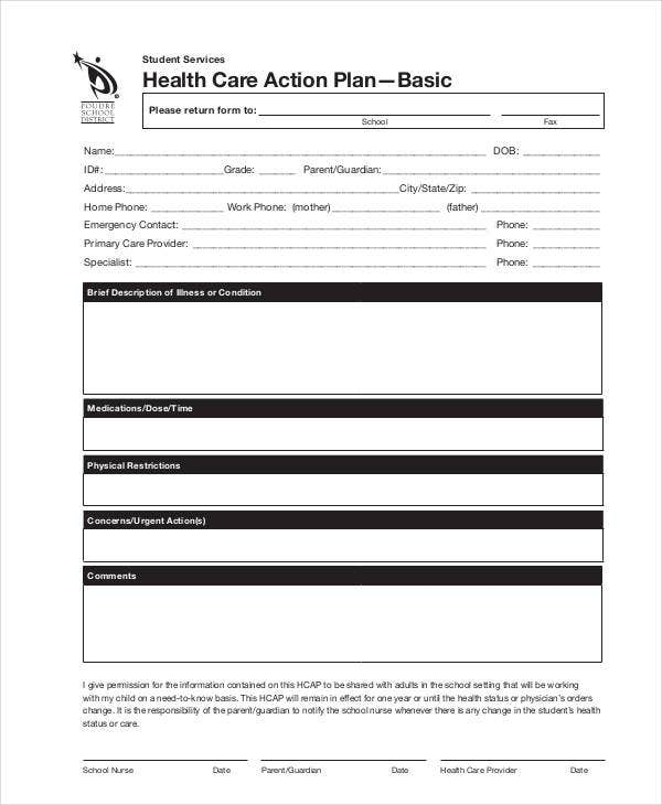 11+ Healthcare Plan Templates - PDF, Word | Free & Premium ...