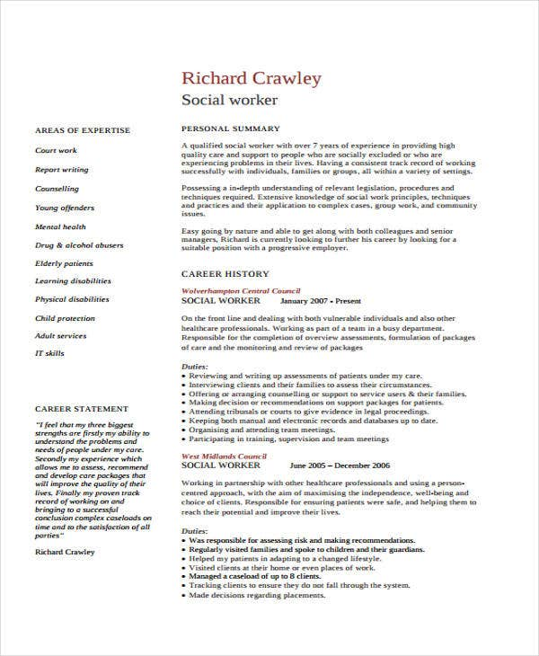 healthcare resume