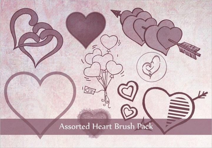 heart-brush-pack