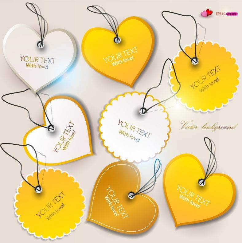 heart shaped label tag 788x791