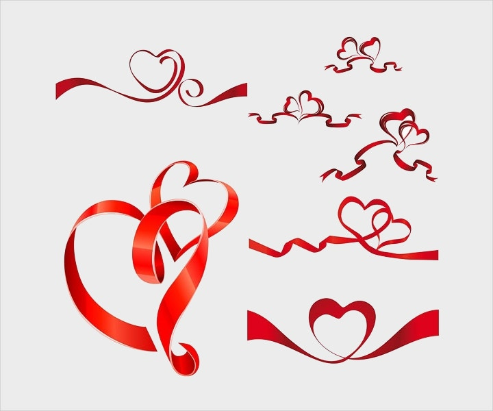 heartshaped-vector-ribbon