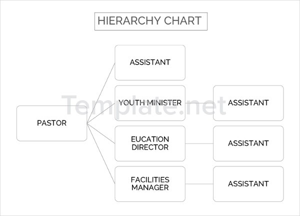 Hierarchy Chart Template