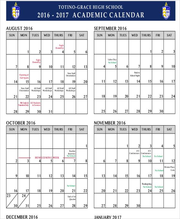 high school calendar1