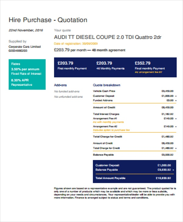 Purchase Quotation Templates   Free Word Pdf Format Download